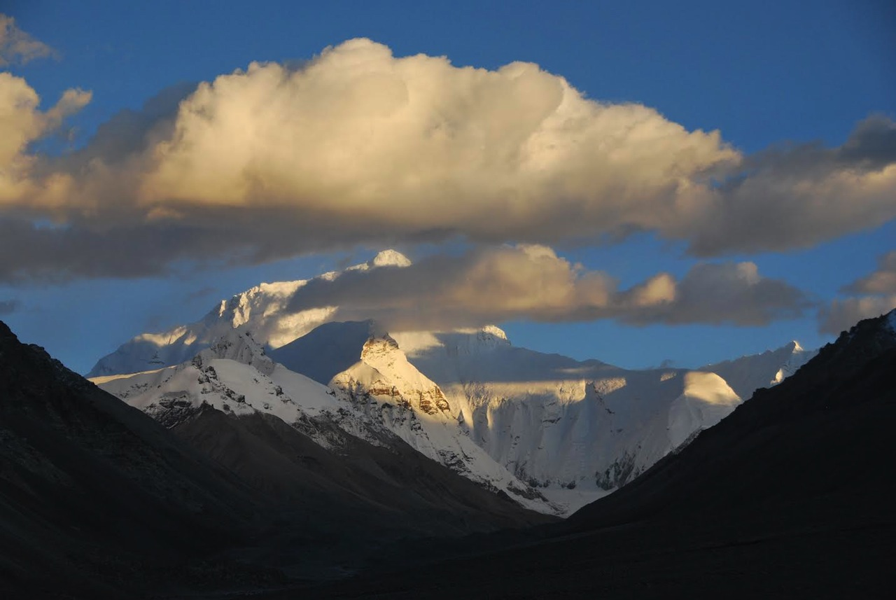 Everest tramonto dal monastero