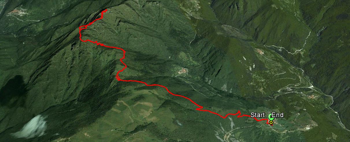 Monte Cingla 1669 m.