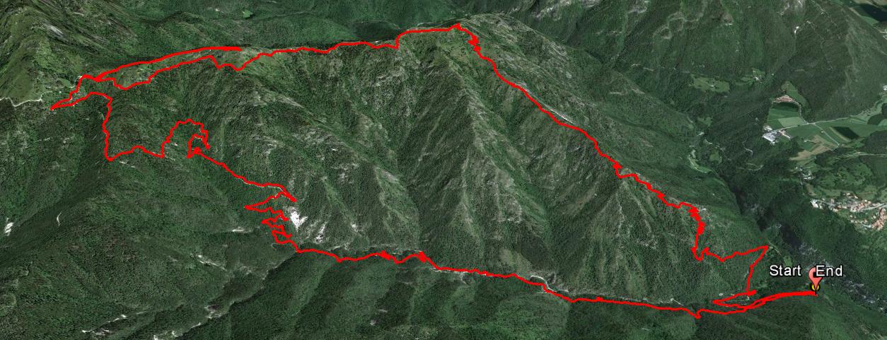 Monte Casarole 1140 m. , Cima Tignalga 1409 m. , Monte Puria 1473 m.