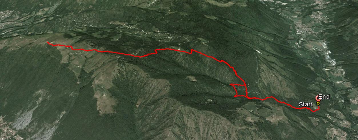 Monte Sparavera 1369 m.