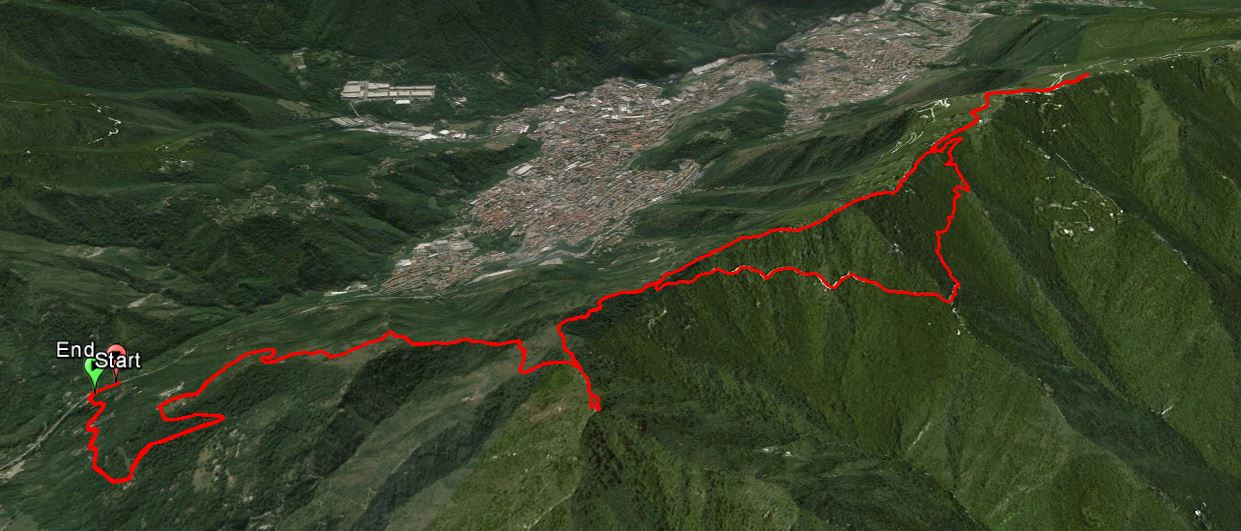 Monte Prealba 1272 m. , Dossone di Facqua 1299 m. , Monte Dossone 1337 m.