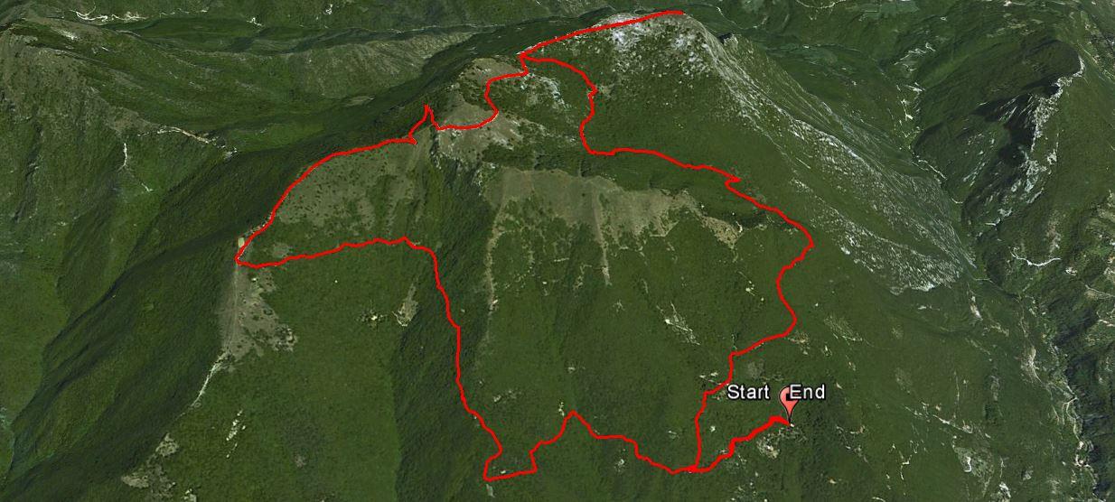 Monte Pizzocolo 1581 m.