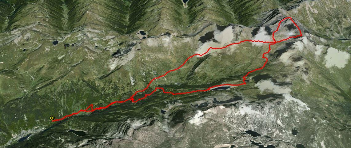 Pizzo del Diavolo di Tenda 2914 m. , Diavolino 2810 m.