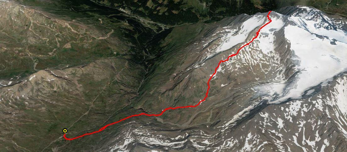 Pizzo Tresero 3602 m.