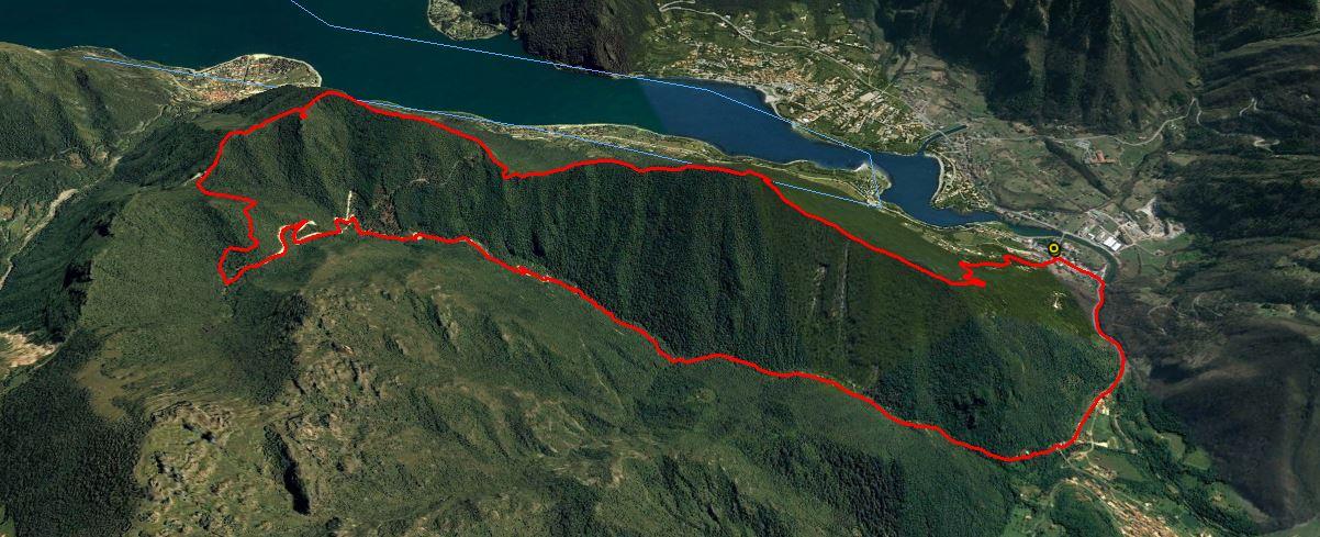 Dosso Sassello 1000 m. , Monte Canale 975 m. ,Monte Paghera 1122 m.