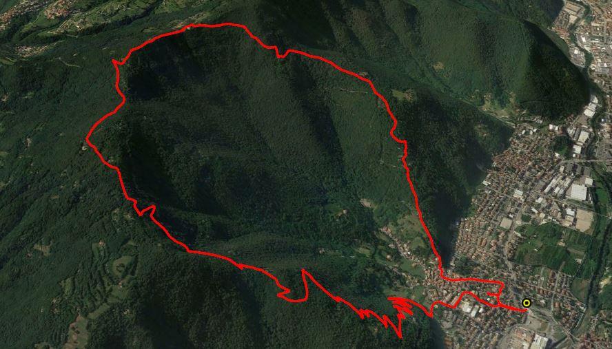 Monte Pernice 899 m.