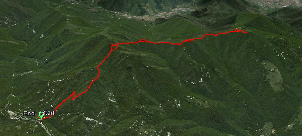 Monte Doppo 1216 m. , Monte Calone 1119 m. , Monte Conche 1157 m.