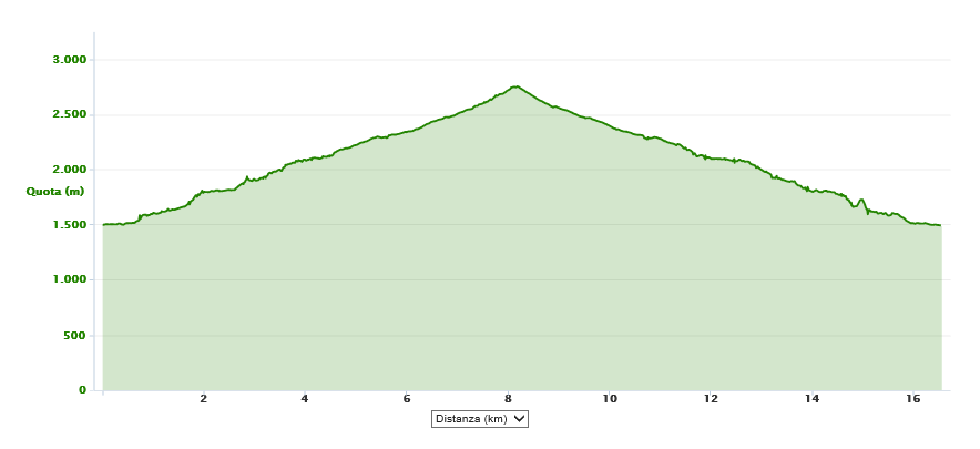 Monte Listino 2750 m.