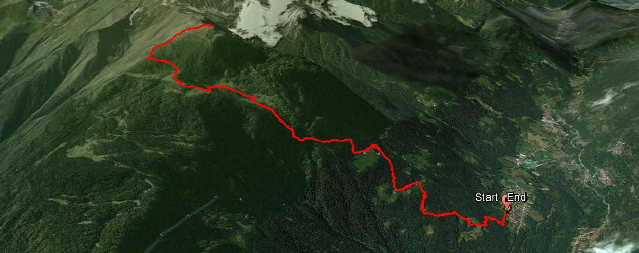 Piz Tri 2305 m.