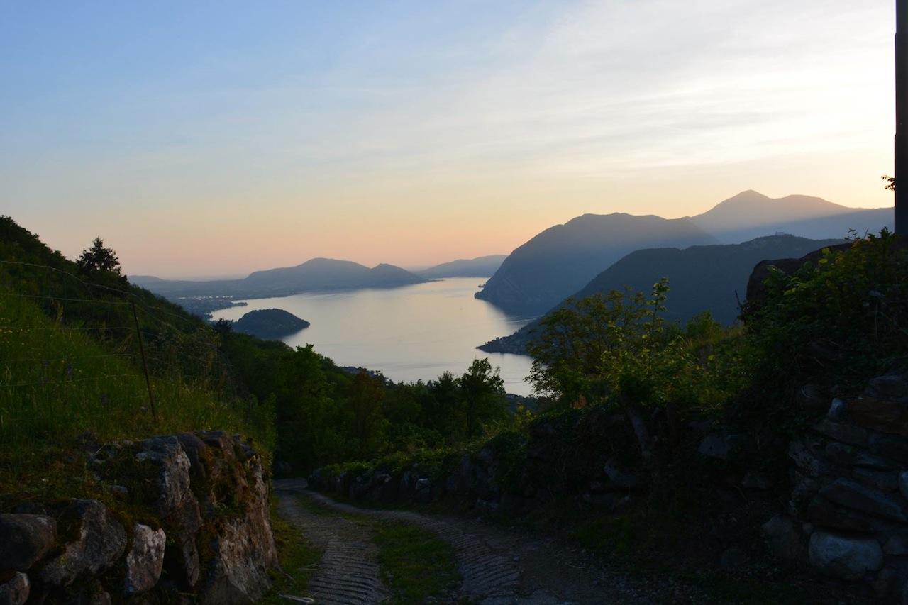 discesa verso il Lago di Iseo