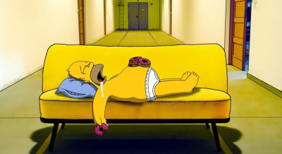 Homer Simpson corsa
