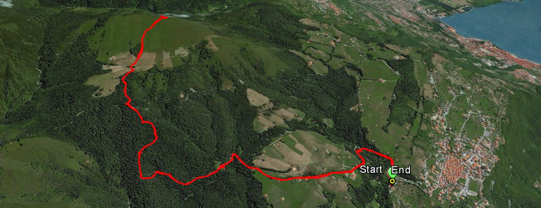 Monte Colombina 1459 m.