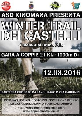 Volantino WInter Trail dei Castelli