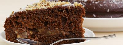 torta fondente con le noci