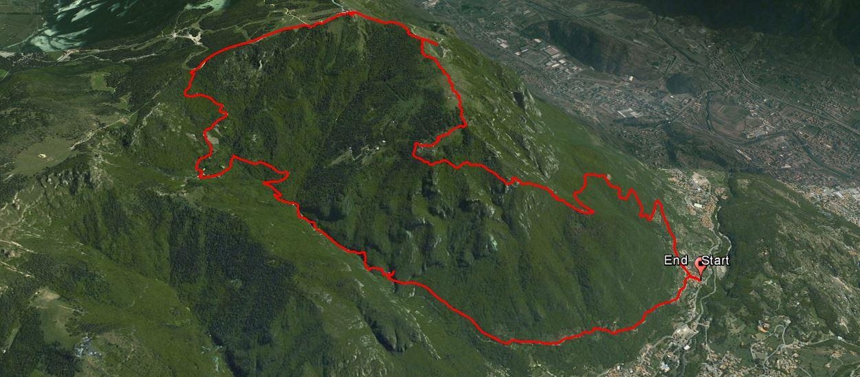 Monte Altissimo 1703 m.