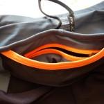 Pantaloncini Trail Kalenji tasca 2 aperta