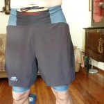 Pantaloncini Trail Kalenji indossato