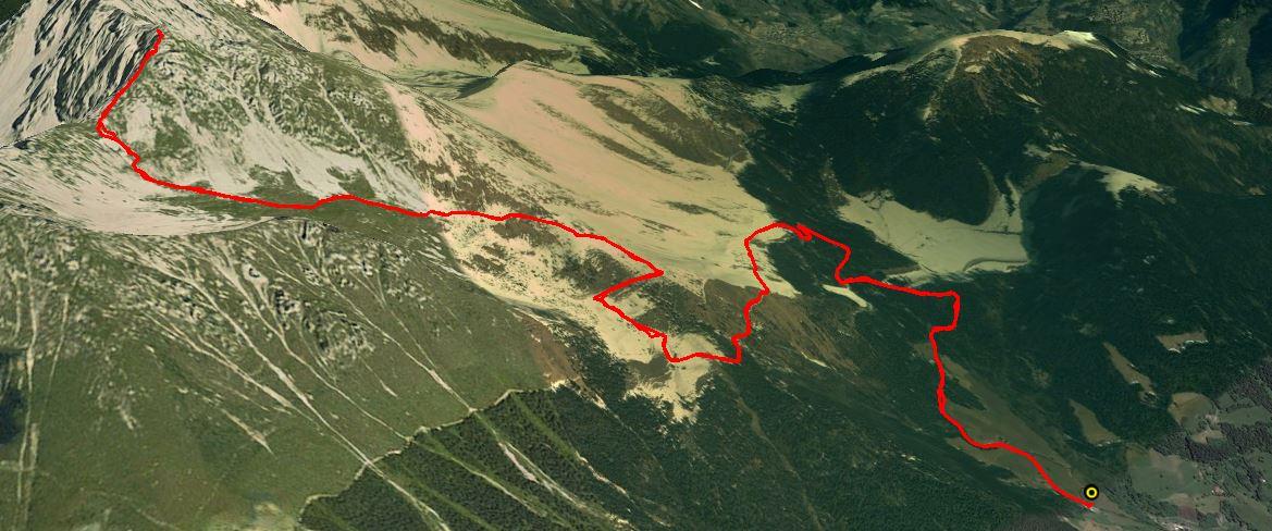 Cima Moren 2417 m.